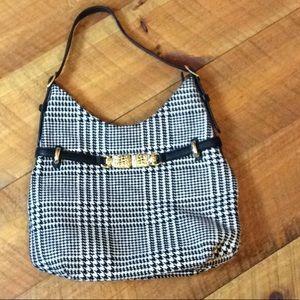 Talbots Black & white houndstooth handbag